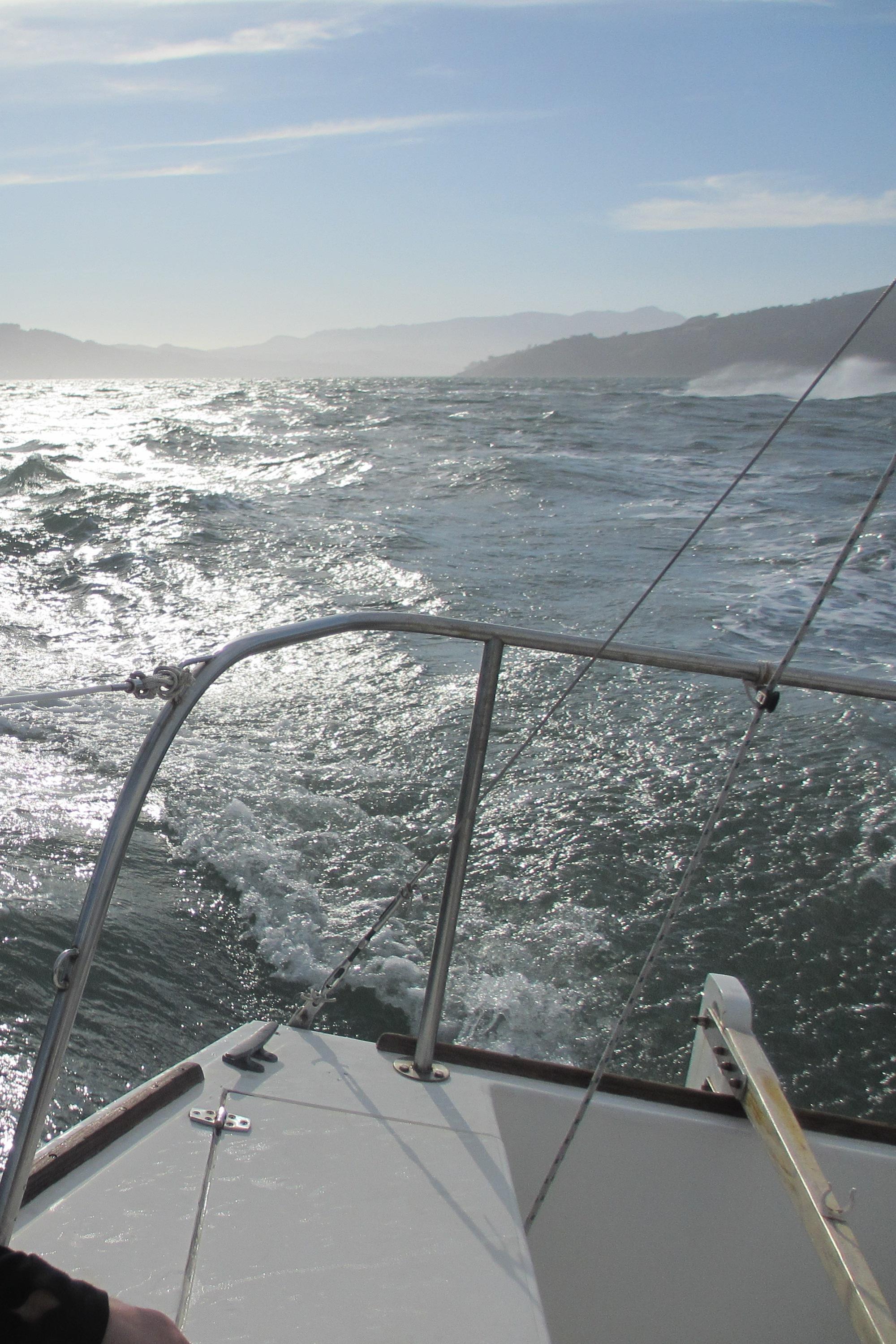 jet ski hits wave