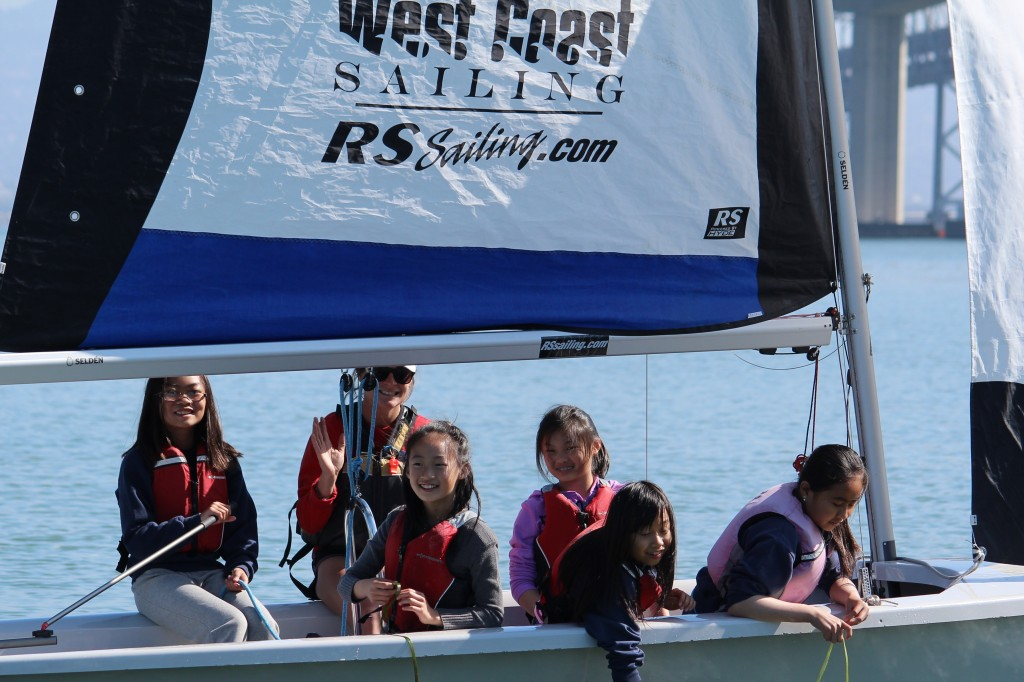 TISC's SSLearn program enables kids to drive an RS Venture sailboat, touch the water, and discover seaweed on Clipper Cove.