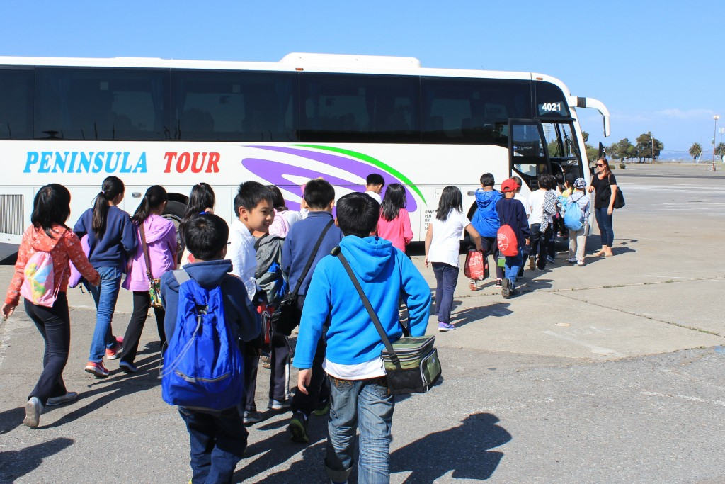 33 happy 4th grade John Yewell Chin Elementary School students depart TISC from their SS Learn class October 9th.