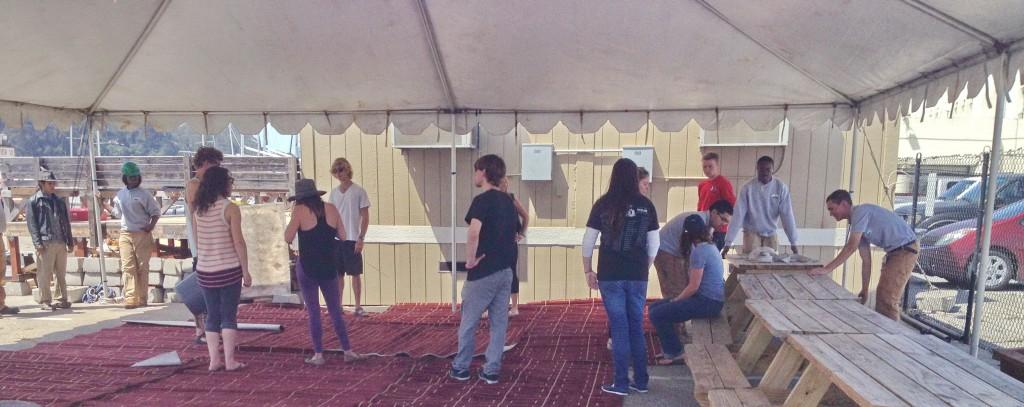 TISC Tent Teamwork