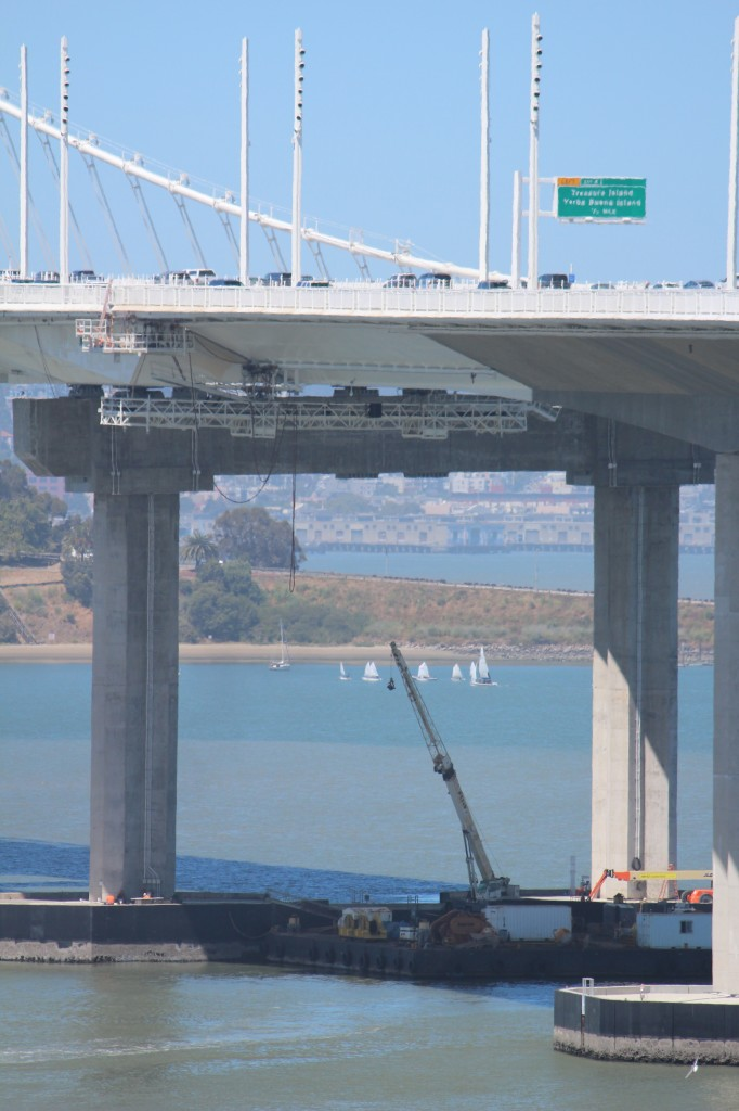 TISC classes framed by bay bridge construction