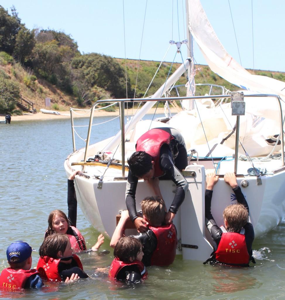 SF Exped. Teamwork climbing aboard