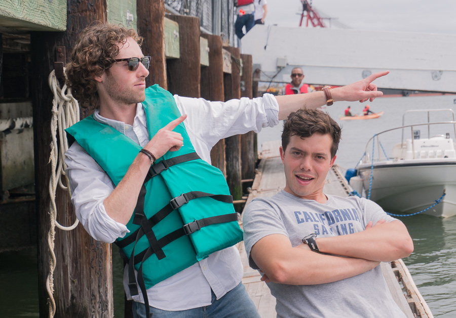 Boat Handlers Strike a Pose