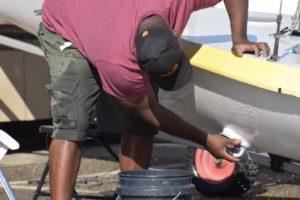 alex fixing boats
